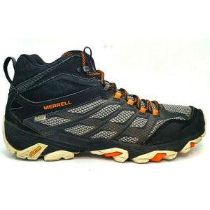 Merrell Shoes - Merrell Mens Moab FST Gray Boots Size 8.5